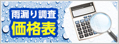 雨漏り調査価格表